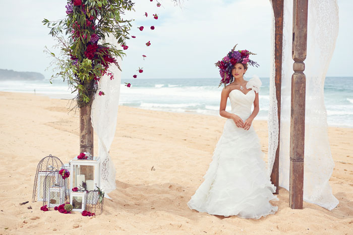 White-on-white-beach-wedding-dress